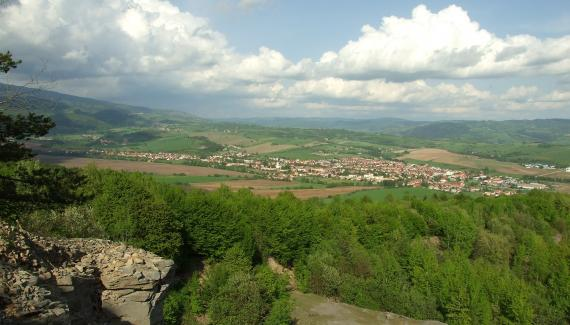 View of Lom beneath Ježová